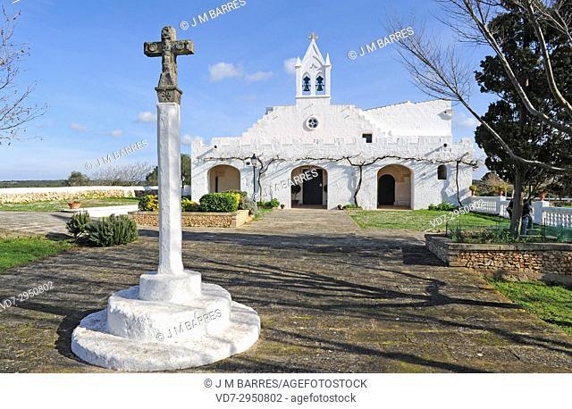 Sant Joan de Missa hermitage. Ciutadella, Minorca Biosphere Reserve, Balearic Islands, Spain