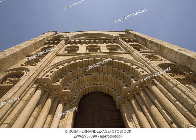 Cathedral of San Salvador of Zamora, Bishop's Door, Romanesque Style, XII Century, Province of Zamora, Via de la Plata, Silver Route, Castilla y Leon, Castile