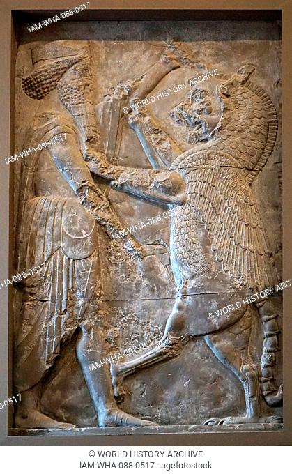 Cast depicting a Royal hero from a doorway in Persepolis, Iran. Dated 5th Century BC