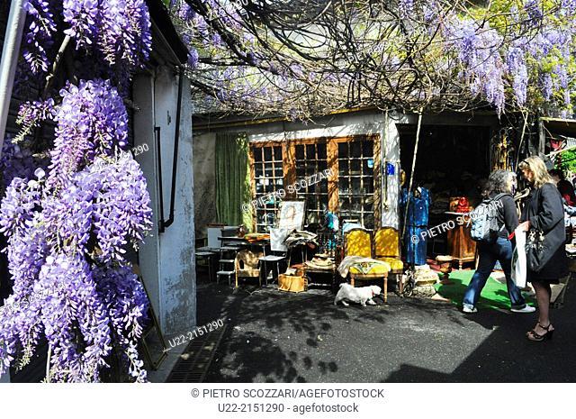 Paris, France, antique shop at Marché Vernaison