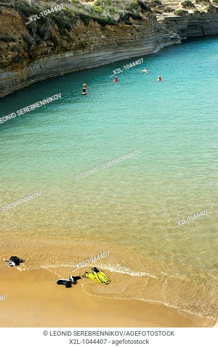 Canal d'Amore beach near Sidari village  Corfu, Greece