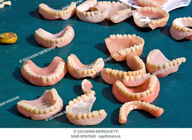 False teeth, Djemaa el Fna square, Marrakech, Morocco