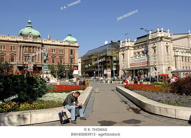 Beograd, city center, square Trg Republike, Serbia-Montenegro, Belgrade