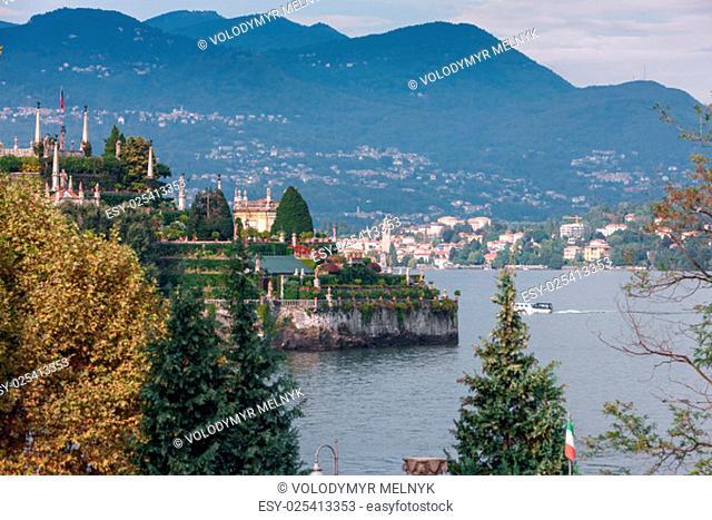The splendid view of Lago Maggiore, Italy