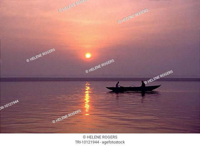 Varanasi India Dawn Ganges
