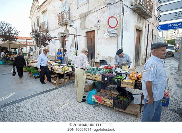 the Markethall in the town of Loule in the Algarve in the south of Portugal in Europe