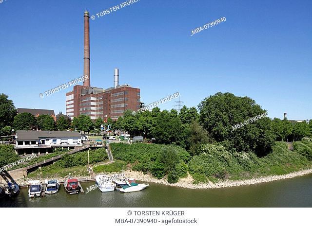 TyssenKrupp Power Plant Hermann Wenzel, Duisburg-Ruhrort, Duisburg, Ruhr area, North Rhine-Westphalia, Germany, Europe