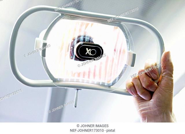 A dentist's lamp