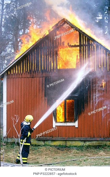 House in flames