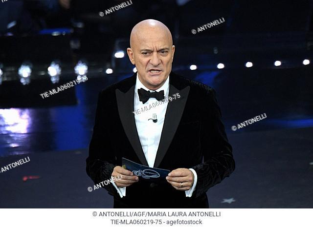 Claudio Bisio during Sanremo second evening. 69th Festival of the Italian Song. Sanremo, Italy 06 Febr 2019