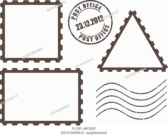 Blank post stamps