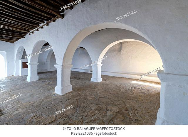 Church of Santa Eulària (Puig de Missa), Santa Eulària del Riu, Ibiza, Balearic Islands, Spain