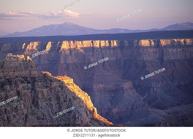 North Rim, Grand Canyon at sunset, Arizona, USA