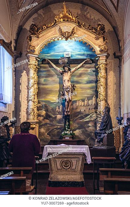 Calvary scene in Bom Jesus do Monte (Good Jesus of the Mount) sanctuary in Tenoes, outside the city of Braga, Portugal