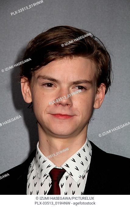 "Thomas Brodie-Sangster 01/18/2018 Red Carpet Fan Screening of """"Maze Runner: The Death Cure"""" held at AMC Century City 15 at Westfield Century City Mall in Los..."