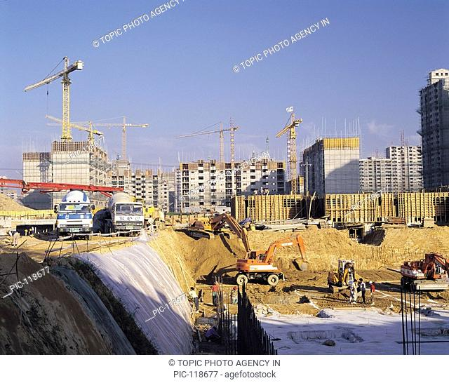 Construction Of Apartment,Gyeonggi,Korea