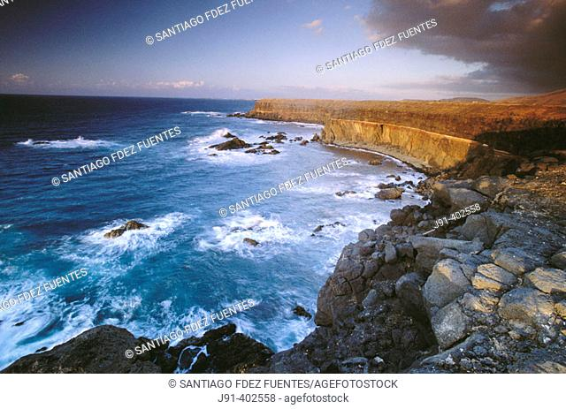 El Cotillo cliffs, La Oliva. Fuerteventura, Canary Islands, Spain