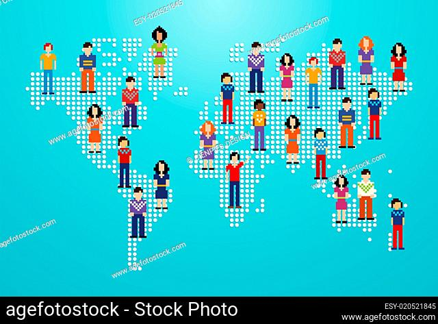Global social media people network