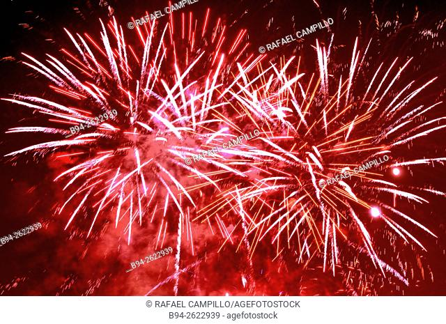 La Merce Festival, Fireworks, Barcelona, Catalonia, Spain