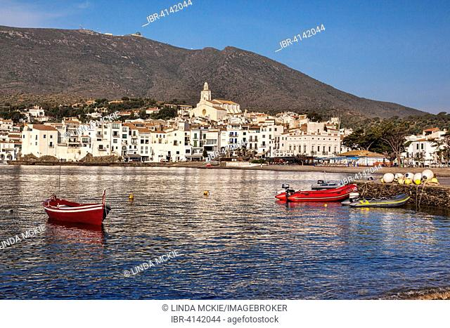 The harbour and town of Cadaques, Girona, Catalonia, Spain