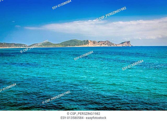 Ibiza island,beach Ses Salines in Sant Josep at Balearic island