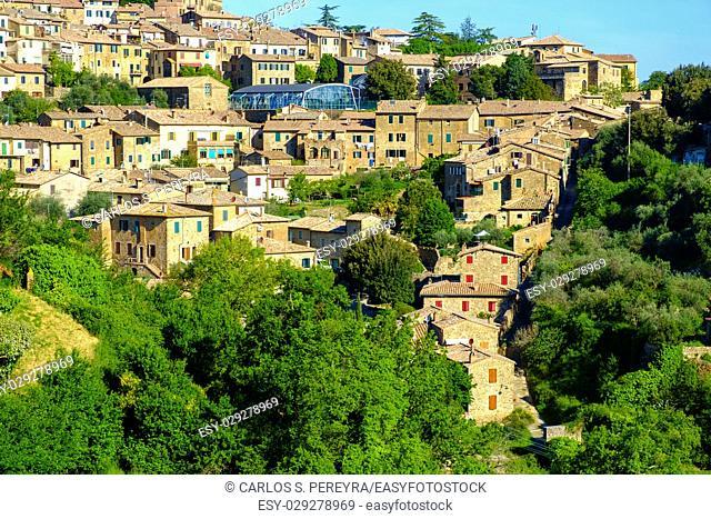 View of Montalcino Tuscany Italy