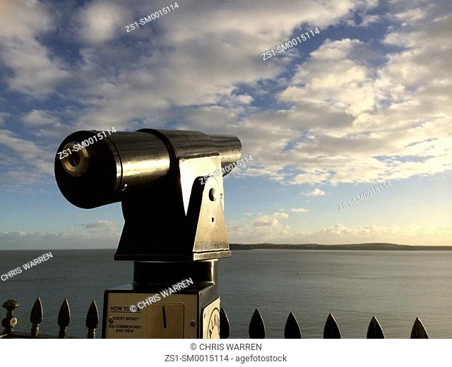 Telescope looking out across sea