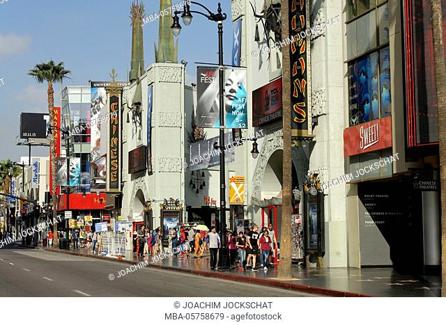 Hollywood Boulevard, Los Angeles, Hollywood, California, USA