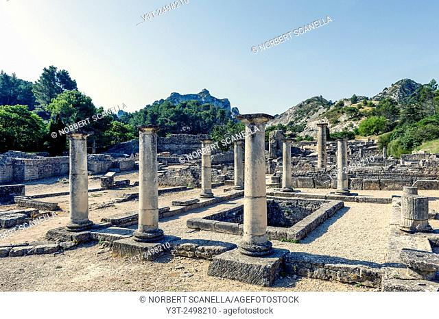 Europe. France. Bouches-du Rhone. Saint-Remy-de-Provence. Glanum. Roman historical site