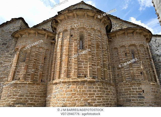 San Martin church, Santa Maria de Buil, Ainsa-Sobrarbe municipality. Huesca province, Aragon, Spain