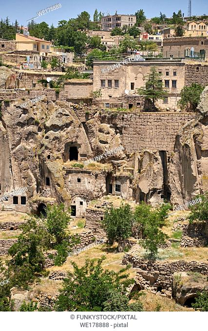 "Pictures & images of Guzelyurt cave city across the the Vadisi Monastery Valley, """"Manast?r Vadisi"", Ihlara Valley, Guzelyurt , Aksaray Province, Turkey"