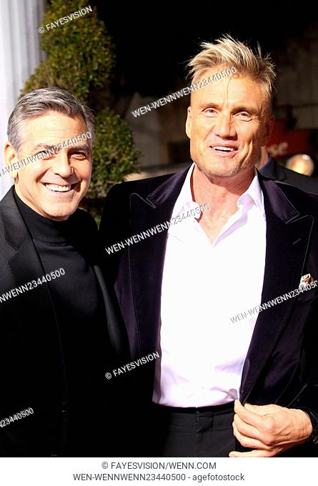 """Premiere Of Universal Pictures' """"""""Hail, Caesar!"""""""" Featuring: George Clooney, Dolph Lundgren Where: Westwood, California, United States When: 02 Feb 2016 Credit:..."""