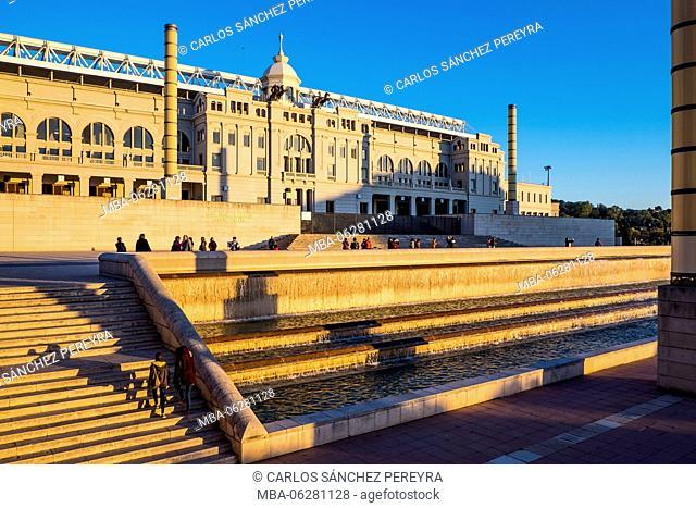 Lluis Companys Olympic Stadium of Montjuic in Barcelona Catalonia Spain