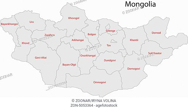 grey Mongolia map
