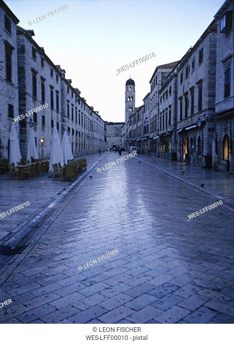 Croatia, Dubrovnik, view of Fransican Church