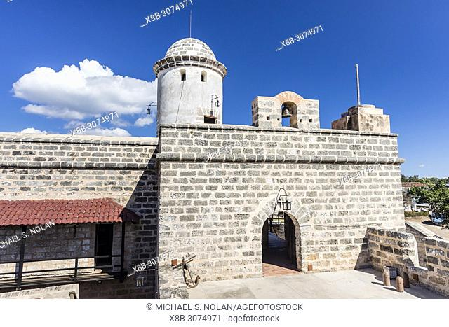 The Castillo de Jagua fort, erected in 1742 by King Philip V of Spain, near Cienfuegos, Cuba