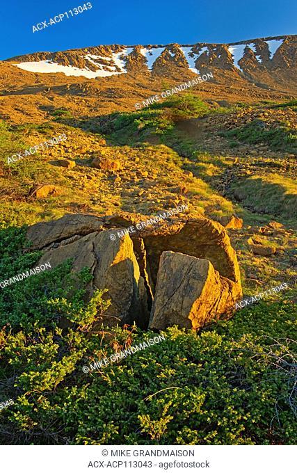 Tablelands at sunset, Gros Morne National Park, Newfoundland & Labrador, Canada