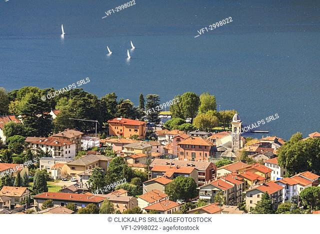 Lombardy, Italy, province of Lecco, Dervio village on the Como lake