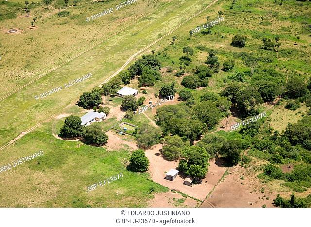 Fly over on the Pantanal Sulmatogrossense, Farm, Corumbá, Mato Grosso do Sul, Brazil