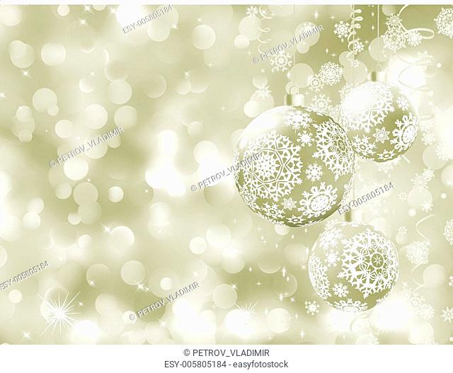 Elegant Christmas balls on abstract . EPS 8