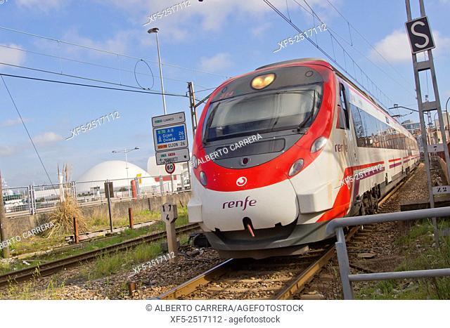 Renfe Train, Asturias, Spain, Europe