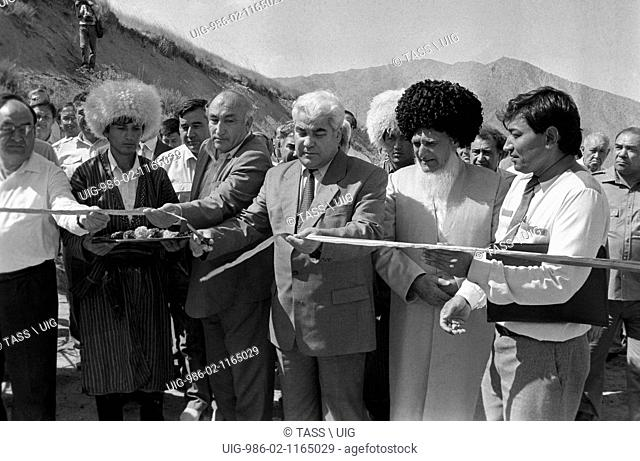 Saparmurad Niyazov At Opening Ceremony Of The Highway From Turkmenistan To Iran