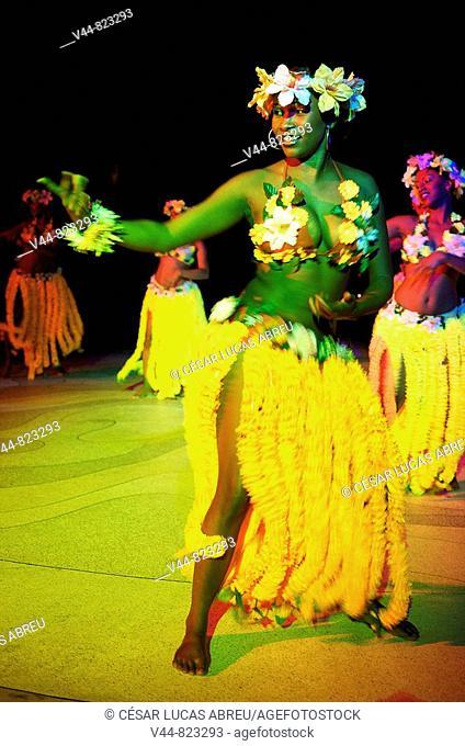 'Sega' traditional dance, Hotel Le Touessrok, Mauritius