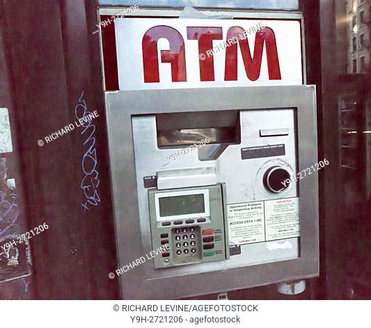 A non-bank ATM machine in the Chelsea neighborhood in New York