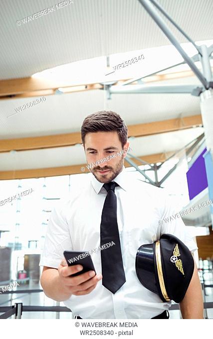 Pilot using mobile phone