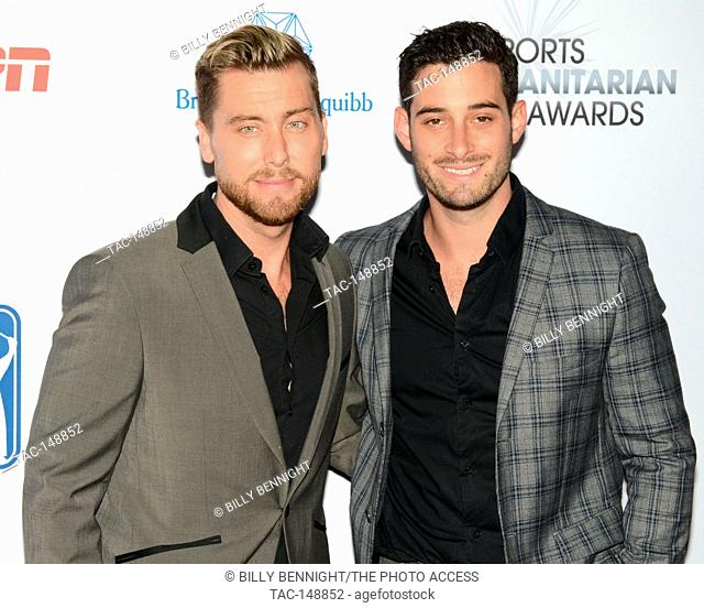 Lance Bass and Michael Turchinattends the 3rd Annual Sports Humanitarian of the Year Awards at LA LIVE'S The Novo in Los Angeles on July 11, 2017