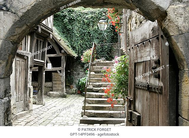 VIEW OF THE COURTYARD, MUSEUM OF ETHNOGRAPHY AND POPULAR ART, HONFLEUR, CALVADOS 14, NORMANDY, FRANCE