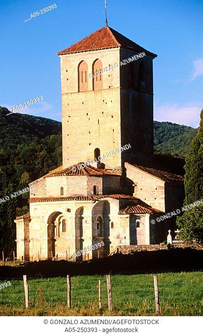 Basilica Saint Just de Valcabrere in Saint Bertrand-de-Comminges. Haute Garonne. Midi-Pyrenees. France