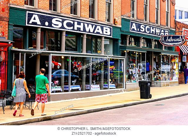 A. Schwab Restaurant and nightclub on Beale Street in Memphis Tennessee