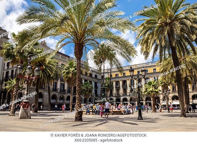 Plaça Reial - Royal Square -, Barcelona, Spain